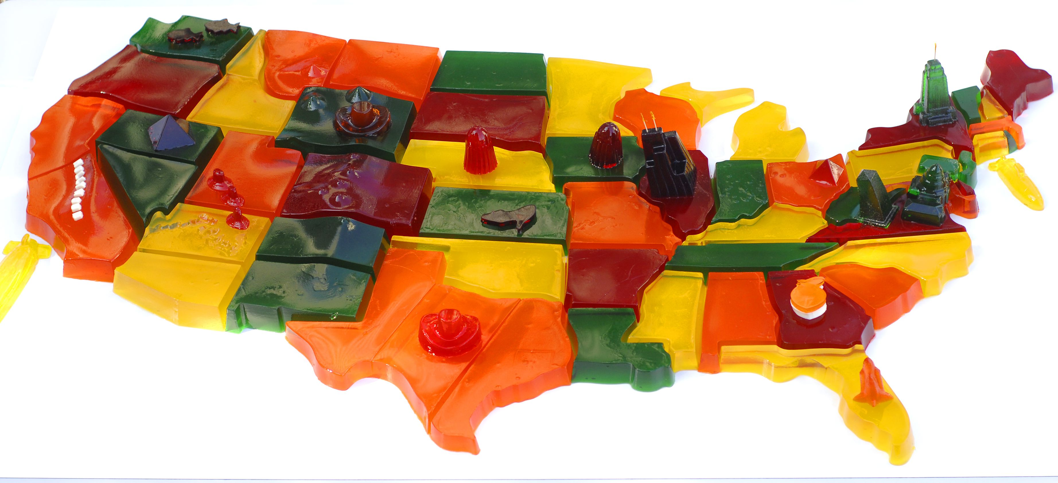 States Of JellO America Map It Good With Bompas And Parr - Map of the 50 states of usa