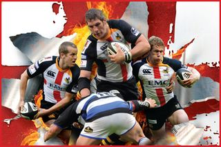 London Wasps tackle Bath, Rugby for St George's Day 2011, April 23 ...