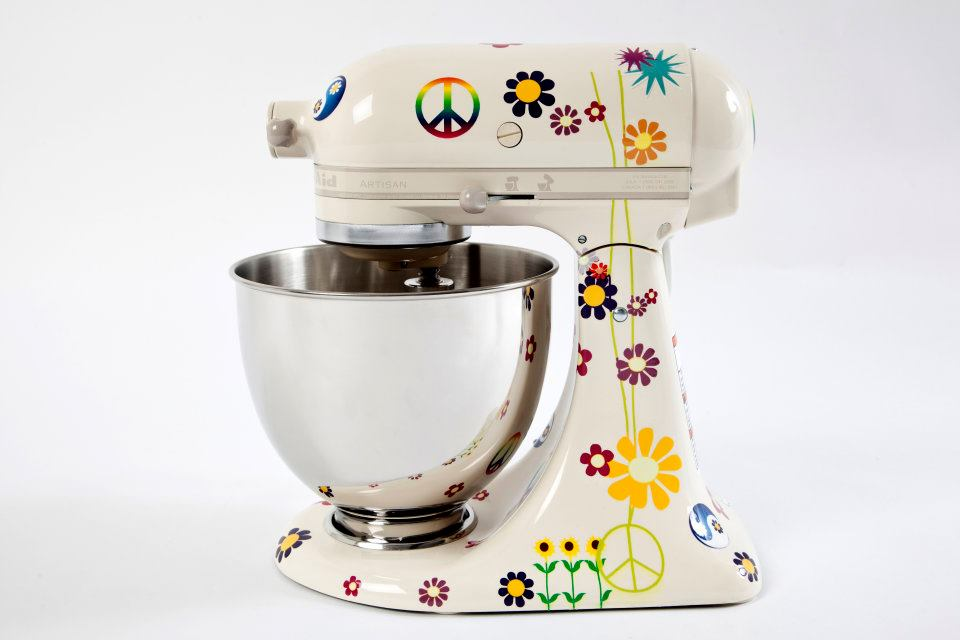 Rock The Counter Make Room For Peace And Love Stand Up Mixer By - Kitchen aid stand up mixer