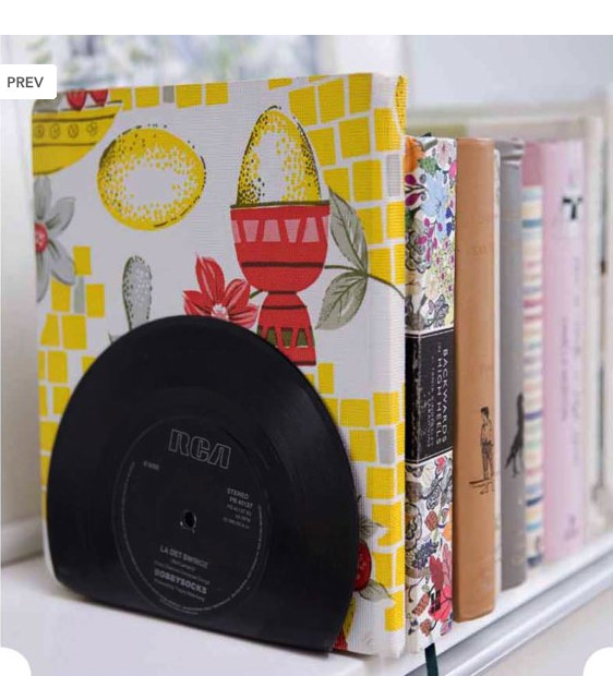 Turn Old Vinyl Records Into Bookends Junk For Joy By Sian