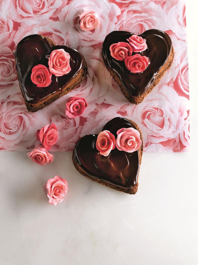 Chocolate valentines cakes