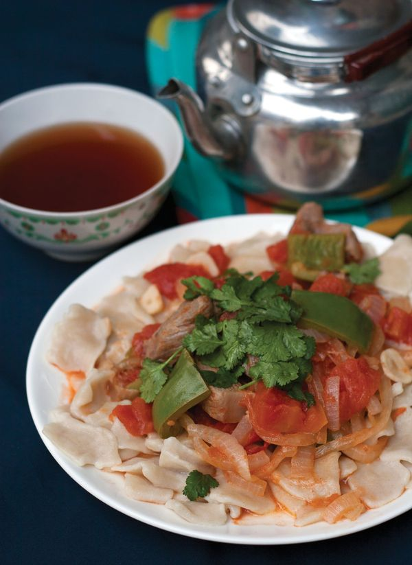 Xinjiang Laghman Noodles With Tomato Sauce Lunar New Year