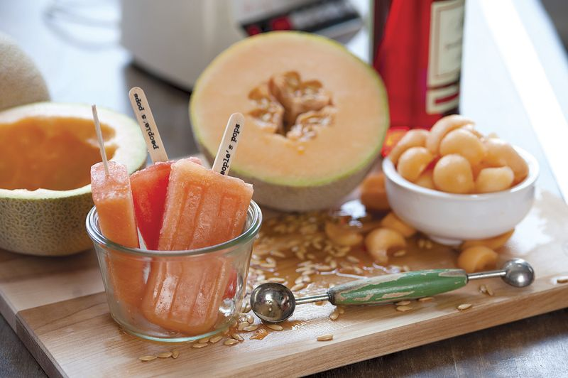 POPS cantaloupe and campari image p 80