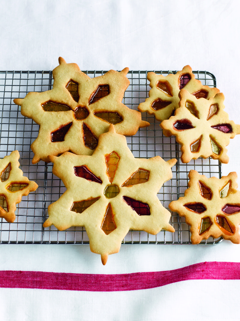 Stained Glass Snowflake Cookies On 1st Day of Winter, Recipe