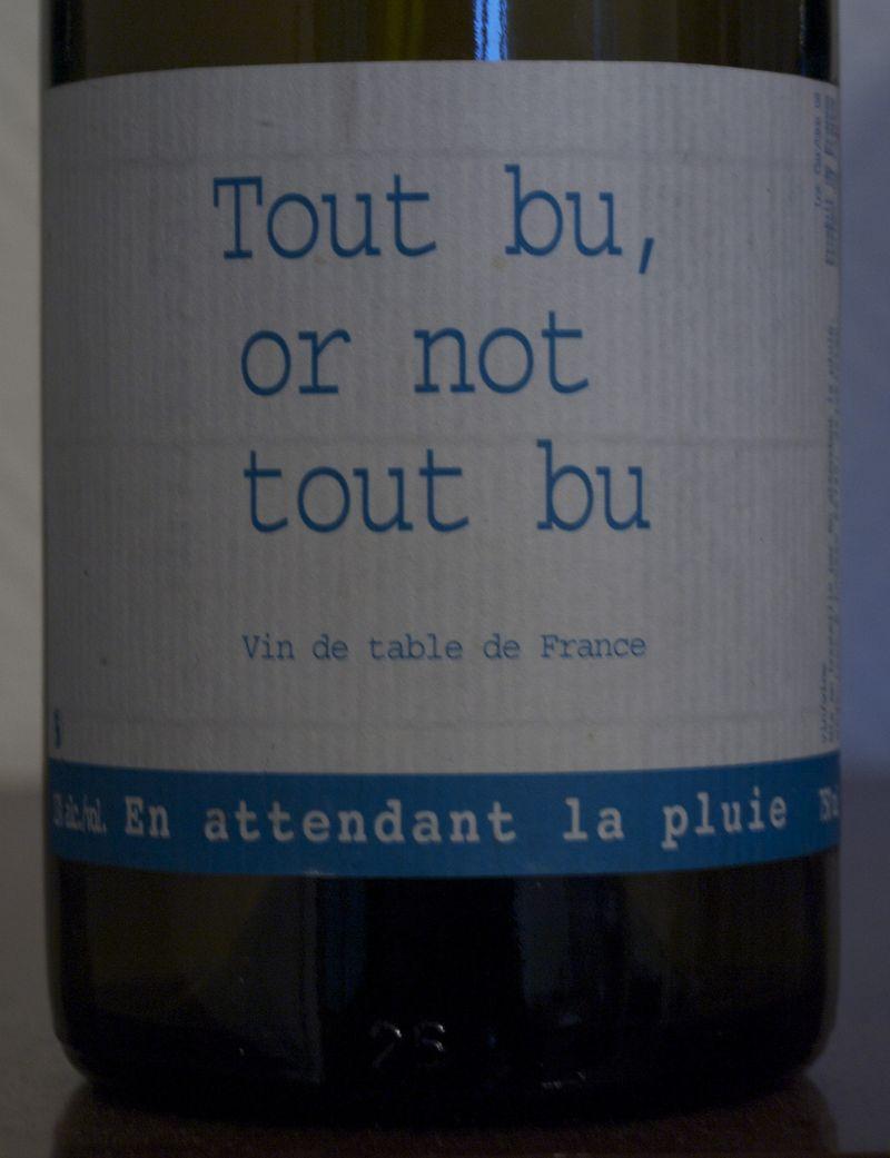 Tout-bu-or-not-tout-bu