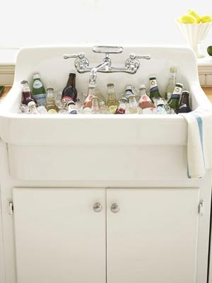Chill Beer Water Your Plants In Country Kitchen Sink