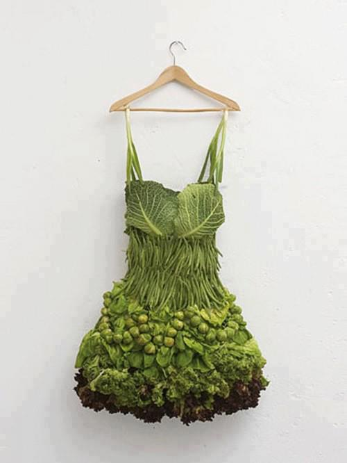 Cabbage and lettuce dress