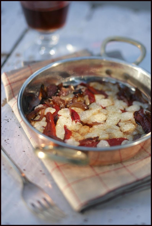 Roasted Red Pepper Saganaki