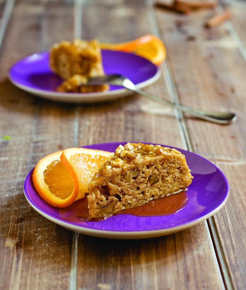 Walnut Spice Sticky Cake