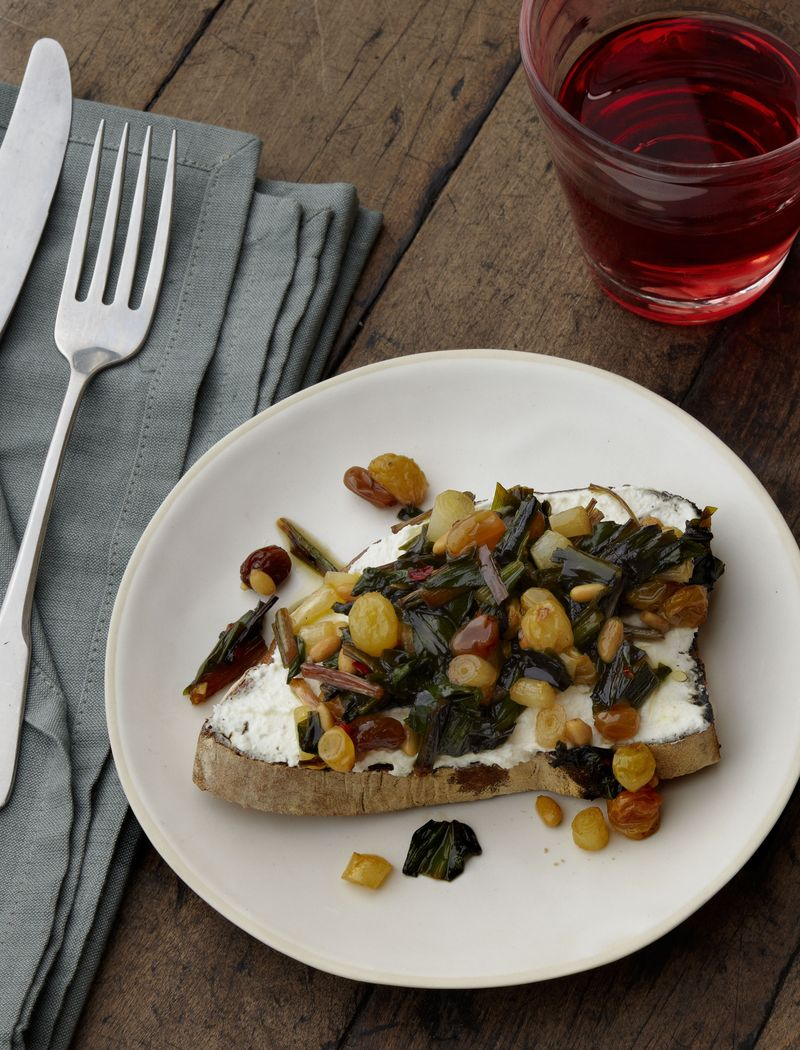 19_Ramps with Pine Nuts, Raisins, and Ricotta