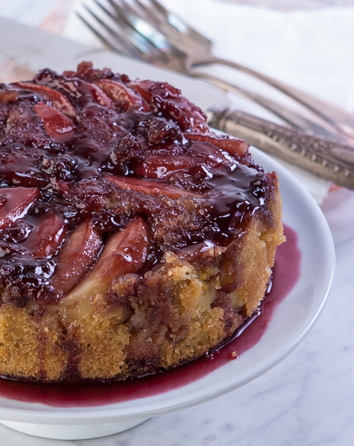 Nosh on This.Apple Upside-Down Cake