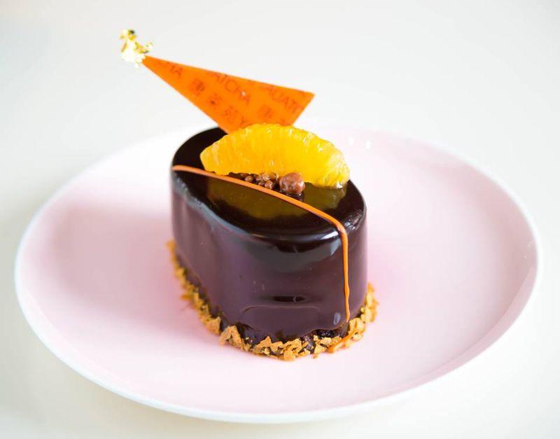 Mandarin macadamia orange confit