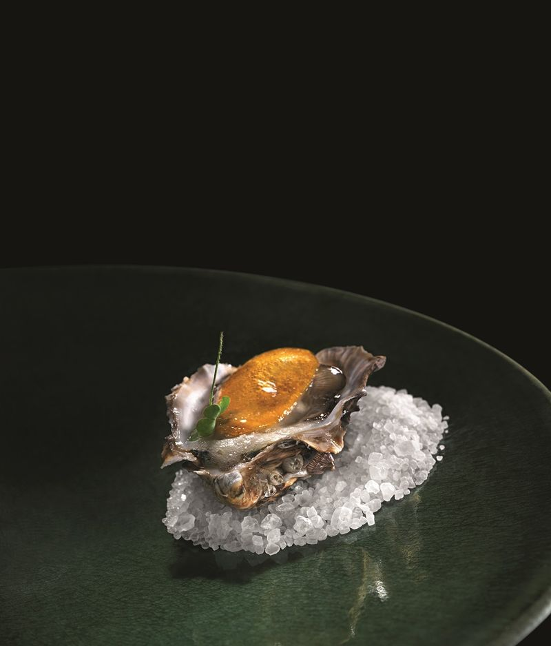 Oyster with cupuacu