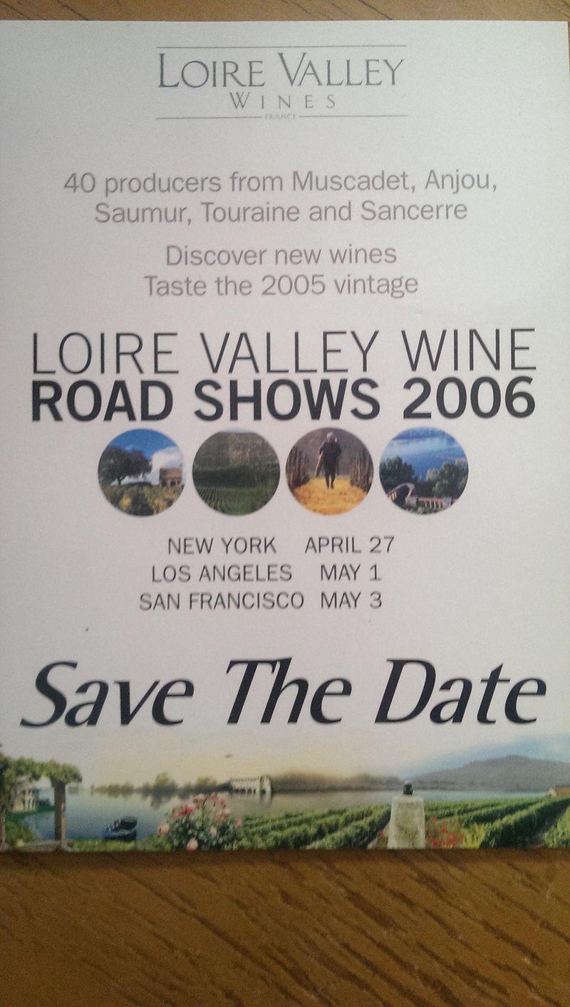 Loire Valley Wine Tasting April 2006