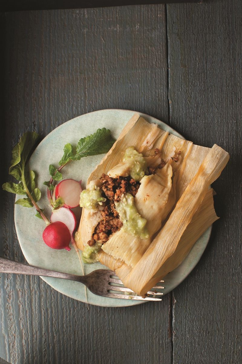 Chicken and Chorizo tamales