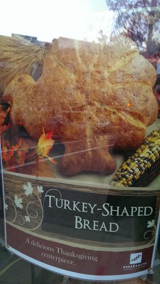 Turkey shaped bread