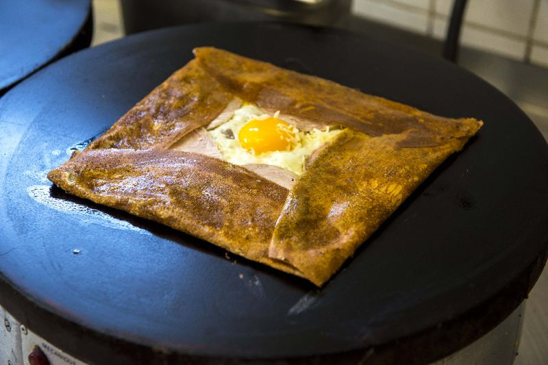 Andouille-oeuf-fromage crepe