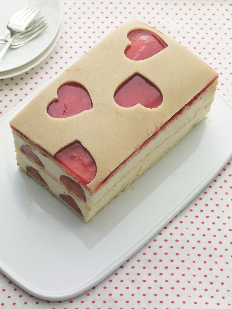 Lemon Chiffon Strawberry Cake