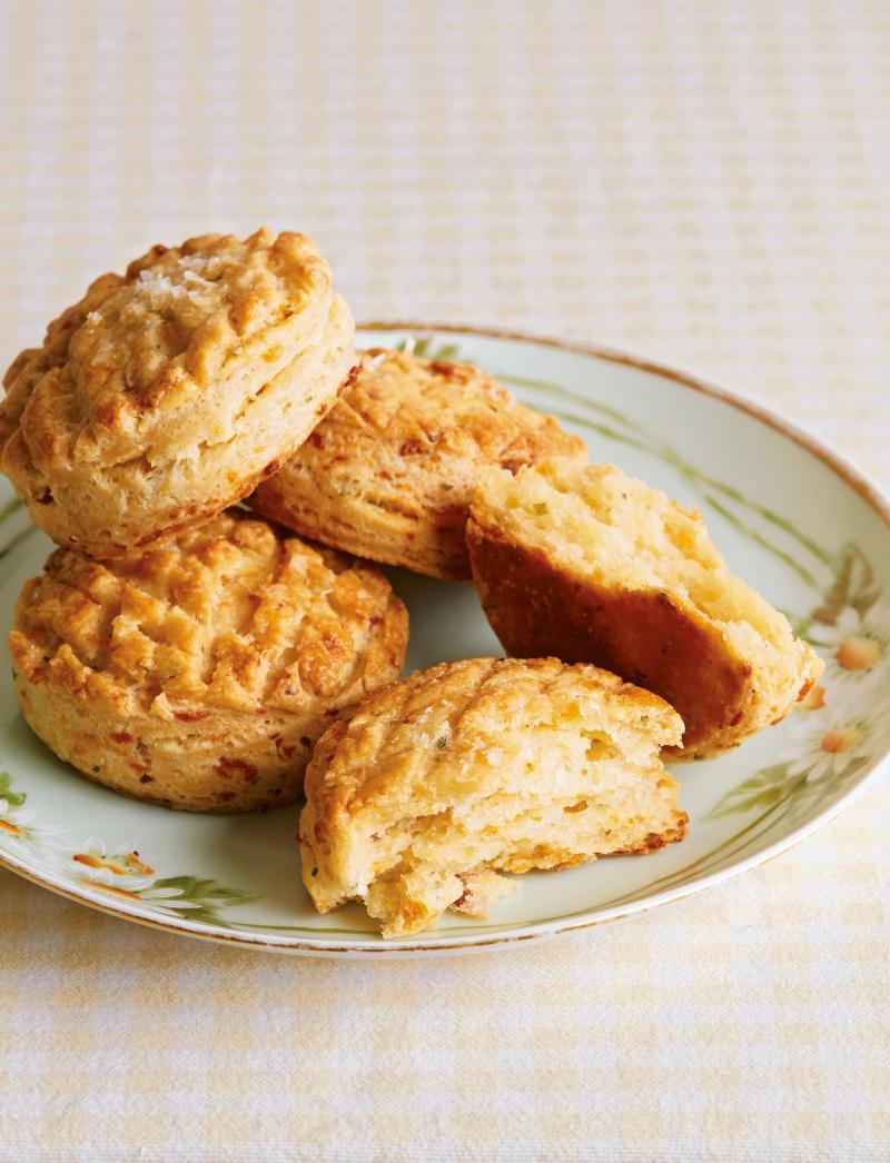 Cheddar Bacon Pogacsa 20th CENTURY CAFE