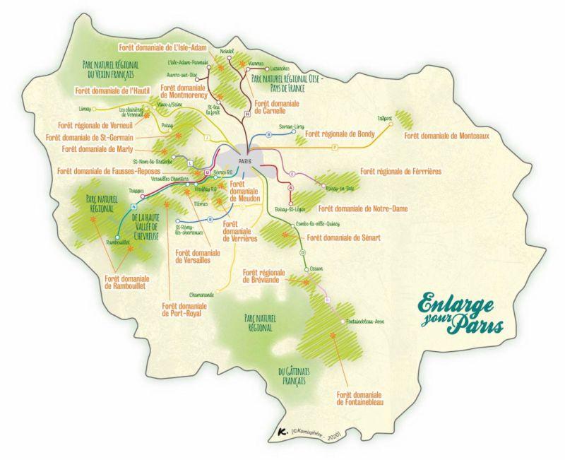 Carte des Bois Paris