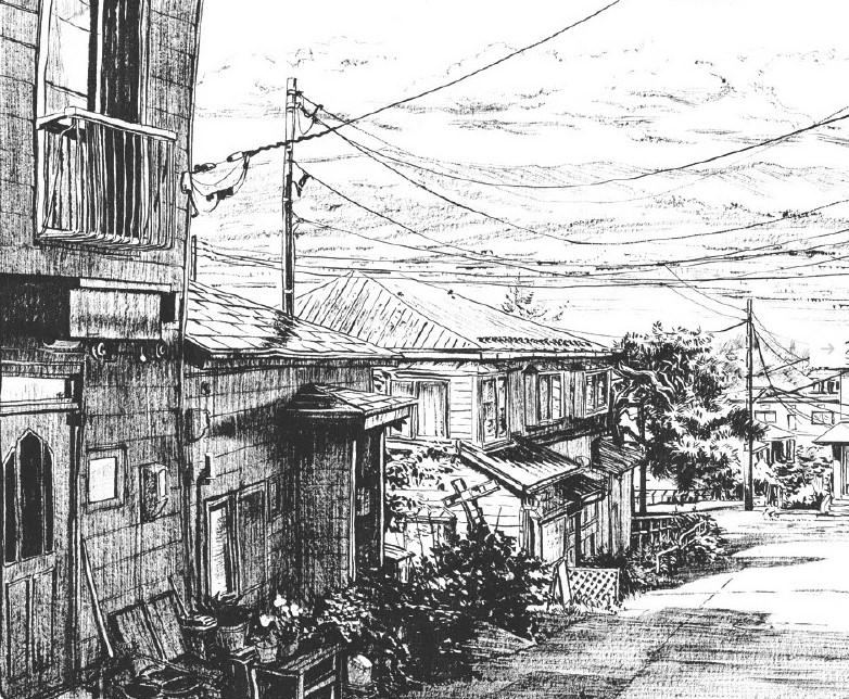 Hokkaido in ink Mateusz Urbanowicz